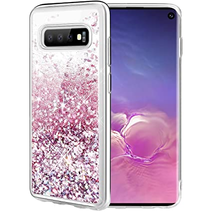 Caka Case for Galaxy S10 Glitter Case Liquid Series Luxury Fashion Bling Flowing Liquid Floating Sparkle Glitter Soft TPU Case for Samsung Galaxy S10 ...