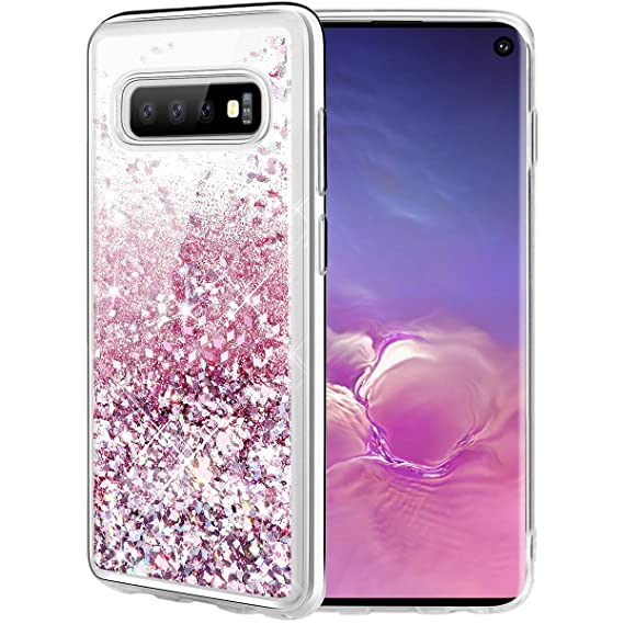 9ef97e45912 Caka Case for Galaxy S10 Glitter Case  Liquid Series  Luxury Fashion Bling  Flowing Liquid