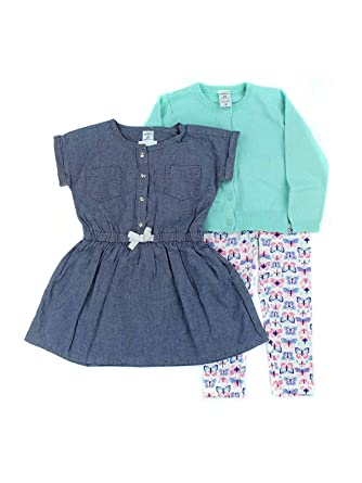 81df33d34 Amazon.com  Carters Toddler Girls 3-Piece Playwear Outfit Set  Clothing