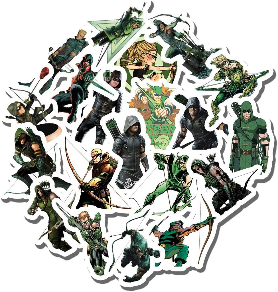 20 PCS Stickers Pack Green Aesthetic Arrow Vinyl Colorful Waterproof for Water Bottle Laptop Scrapbooking Luggage Guitar Skateboard