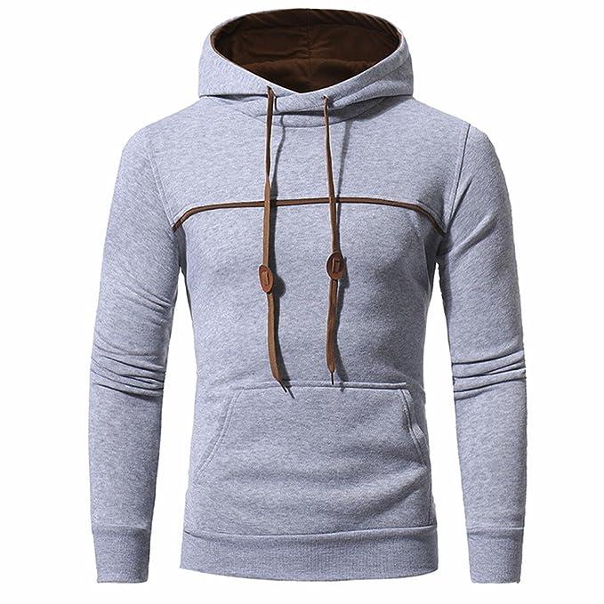 ADLFJGL Sudaderas con Capucha Moda Simple Color Parachoques Diseño De Los Hombres/Damas Casual Suéter Frente Gran Bolsillo con Capucha Suéter: Amazon.es: ...