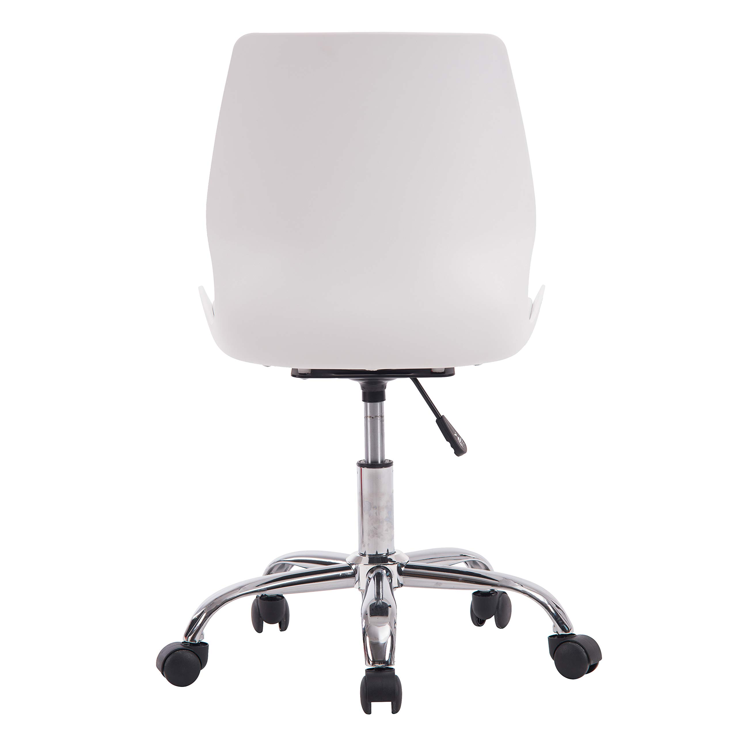 Porthos Home LVC006A WHT Adjustable Height Office Desk Chair with Wheels, Easy Assembly, White or Black, One Size by Porthos Home (Image #4)