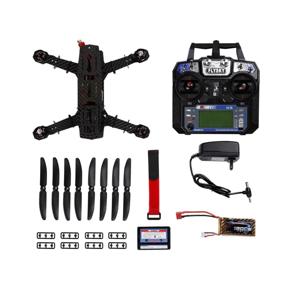 Carbon Fiber 250 Quadcopter Frame Left Hand Throttle Flight Control(Color:Black) B07KP5R547