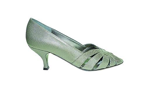 7f7f23d47d821 Prevata Womens Vaness Lizard Skin Pumps Heels Peep Toe Sandals Size ...