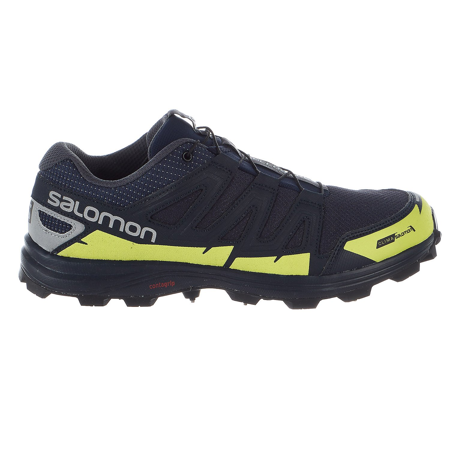 Salomon Speedspike CS Running Shoes - Navy Blazer, Reflective Silver, Lime Punch - Mens - 10