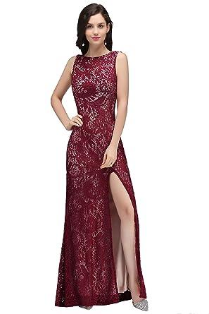 d76dbcd1628 Babyonlinedress Elegant Sexy Robe de Soirée Bal Cérémonie Longue Fourreau  Sirène Trompette Dos Nu Fendue sans