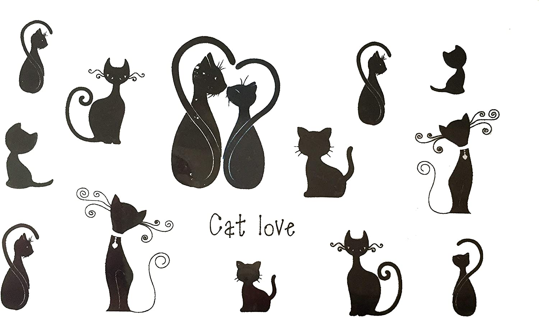 Strass et Paillettes - Mini tatuajes temporales, diseño de gato ...