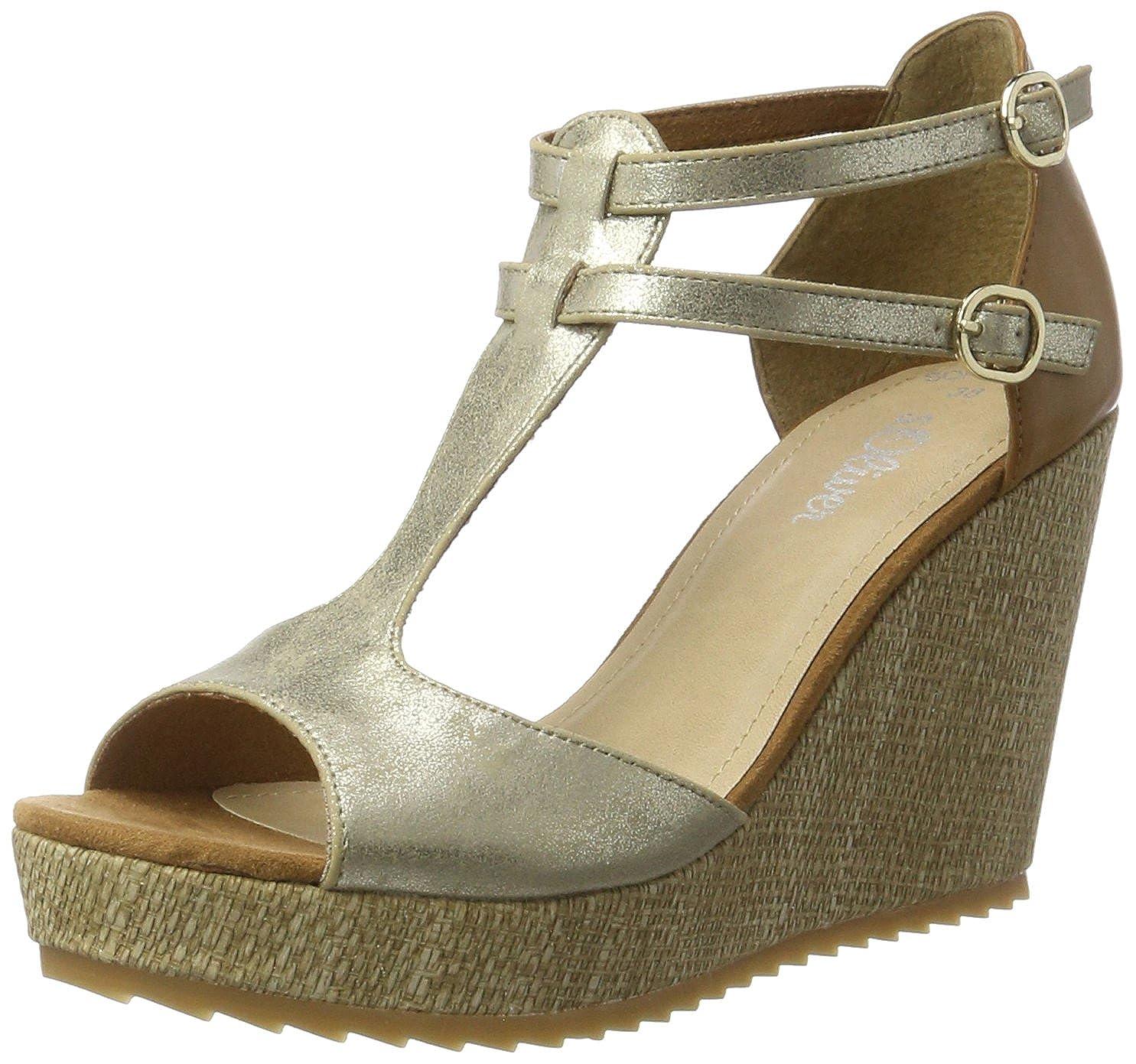 reputable site e03fd ceffe Amazon.com: s.Oliver Da.-Sandalette Size 9.5 US Silver: Shoes
