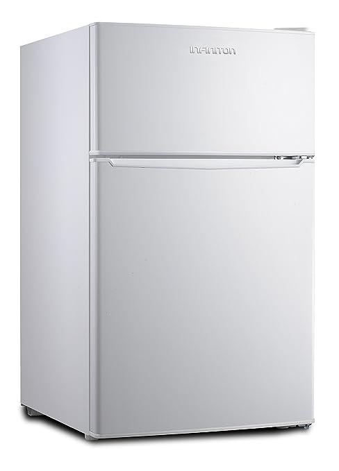 Frigorífico INFINITON (Blanco) FG-1720 Table Top - 85 litros,A+,Congelador 4****2 Puertas, Luz Interior LED (Blanco)