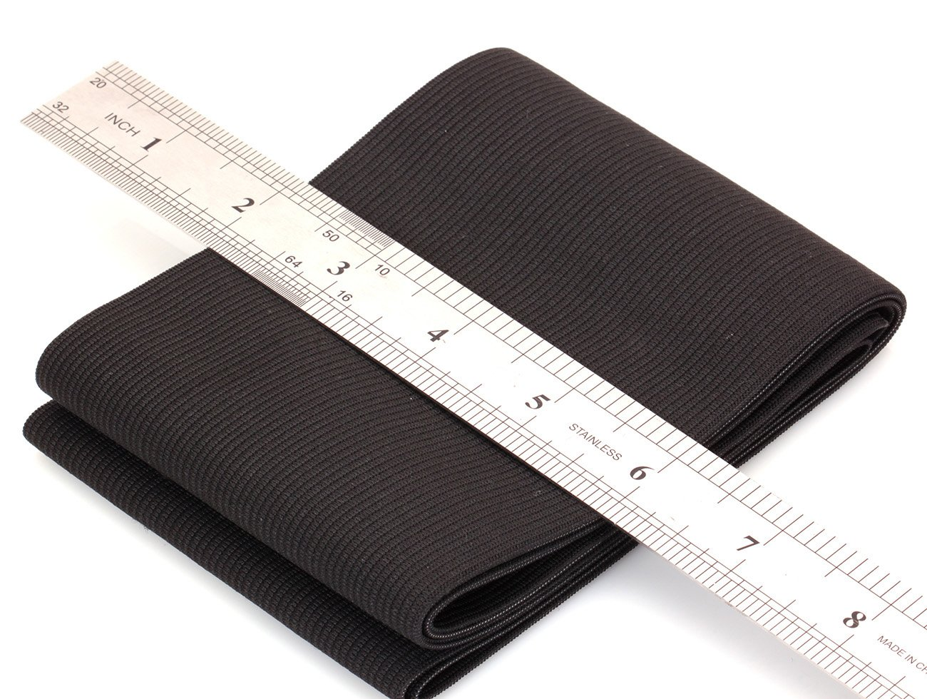 COTOWIN 4-inch Wide Black Knit Heavy Stretch High Elasticity Elastic Band 3 Feet 4337000444