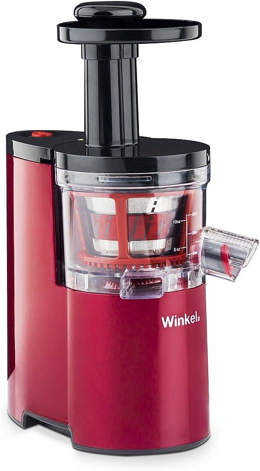 Winkel SX24 Licuadora para Frutas y Verduras, 200 W, 0.5 litros, Acero Inoxidable, Rojo: Amazon.es: Hogar