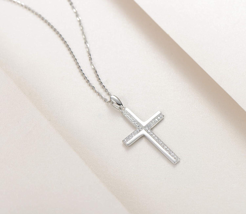 """Large Argent Sterling 3.3/"""" Crucifix Croix avec Jésus Collier Pendentif 24/"""" Chaîne"""