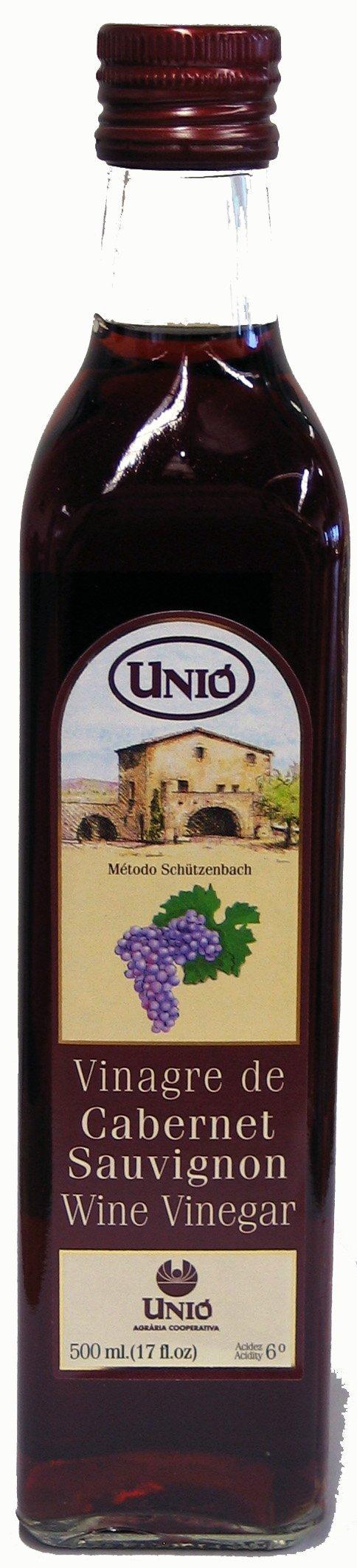 Unio Cabernet Sauvignon Red Wine Vinegar 500ml (17oz) Bottle by Unio