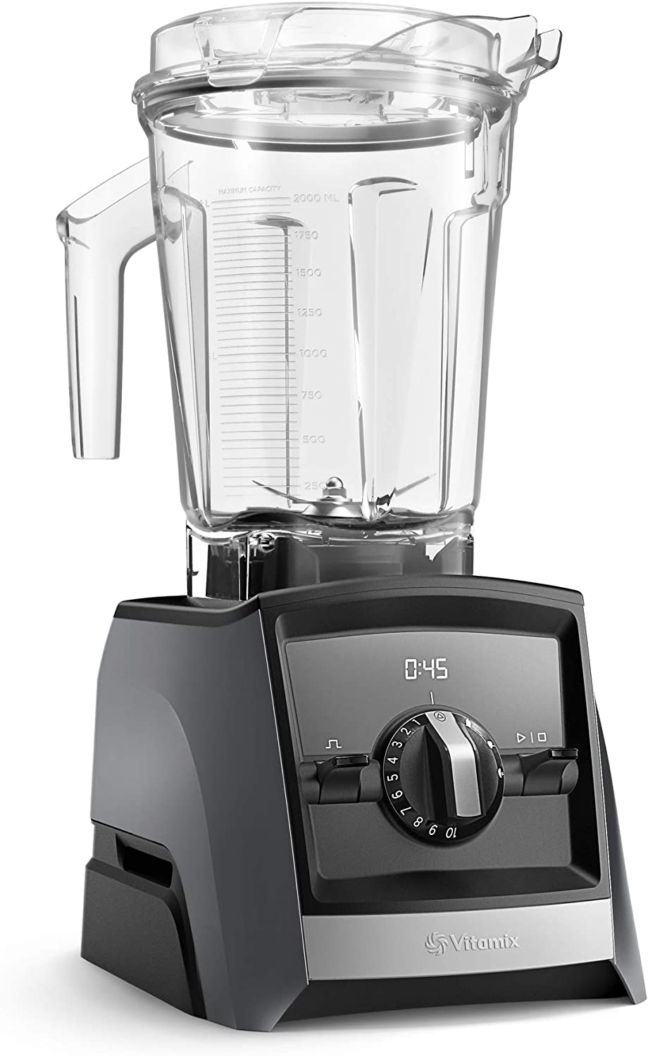 Vitamix A2500 Ascent Series Smart Blender, Professional-Grade, 64 oz. Low-Profile Container, Slate (Renewed)