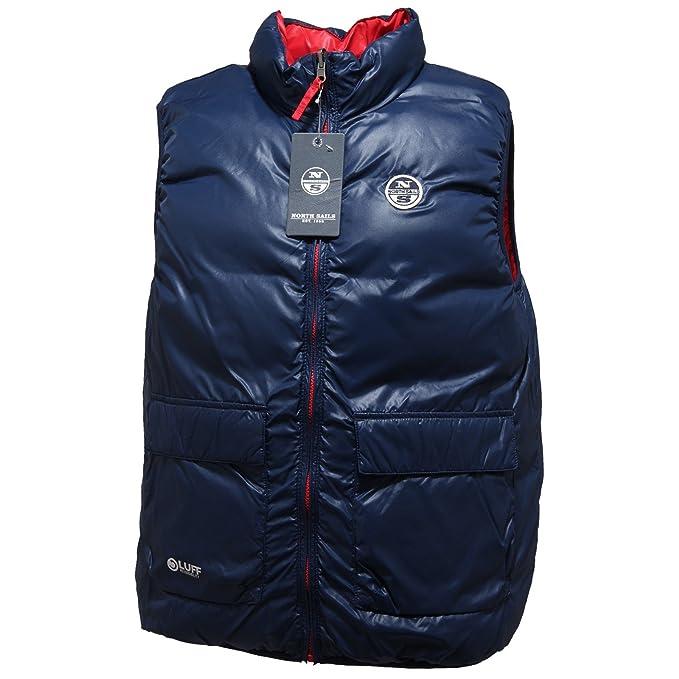 0713N giubbotti NORTH SAILS smanicati piumino uomo double face coats  jackets blu  M   Amazon.it  Abbigliamento 5ed910bf81e6