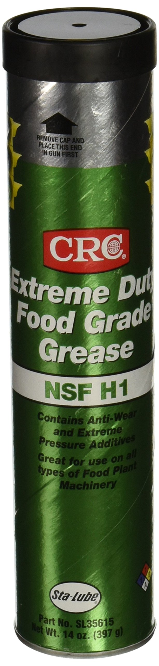 CRC SL35615 Extreme Duty Food Grade Grease, 14 Ounce, Tan, Smooth Grease by CRC