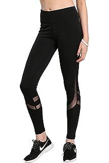 dff02536ed551 BLINKIN Mesh Yoga Gym and Active Sports Fitness Black Leggings Tights for  Women|Girls (