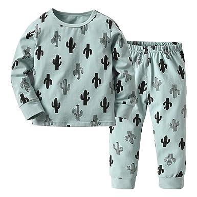 032914de6 Amazon.com  Toddler Baby Girls Boys Pullover Pajamas Cactus Print ...