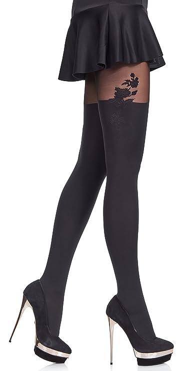 Merry Style -  Medias de fiesta con Estampado - Panty sexy para falda, short, o vestido.