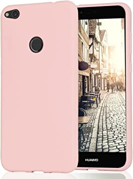 Funda Huawei P8 Lite 2017 Silicona Carcasa Suave Flexible TPU Ultra Fina Delgado Anti Golpes Choque Case Móvil Candy Color Cubierta Protectora Caja Tapa Huawei P8 Lite 2017 Rosa: Amazon.es: Electrónica