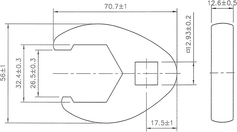 BGS 1757-32 32 mm 1//2 Crowfoot Spanner 12.5 mm Drive