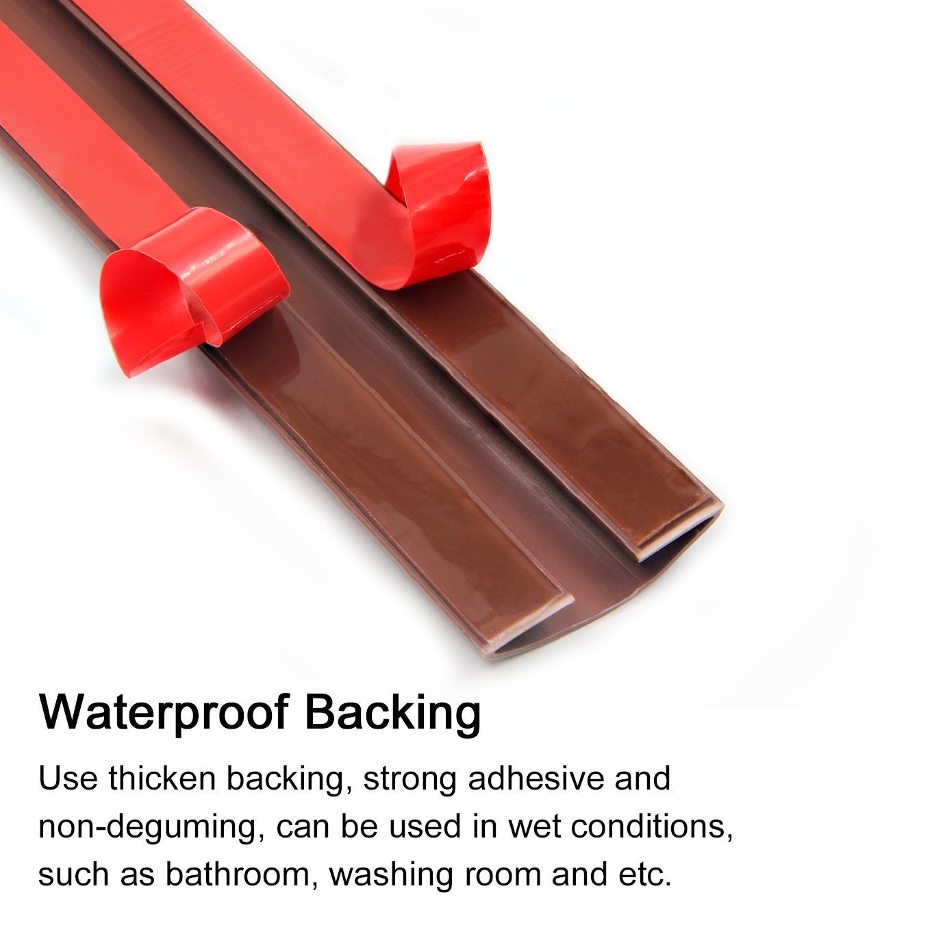 Door Draught Excluder Bottom Rubber Bar Strip Seal Energy Save