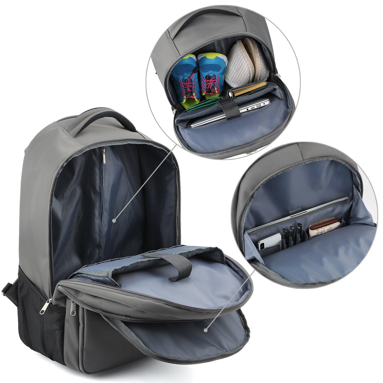 Gonex 40L Sac /à Dos /à Roulette Sac de Voyage Roulette Maillette Ordinateur Bagage Cabine