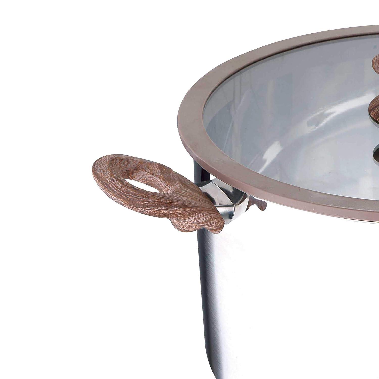 San Ignacio Granito Cacerola, Acero Inoxidable, Gris, 20 cm: Amazon.es: Hogar