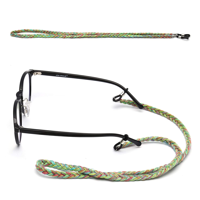 Eyewear Holder Strap Cord Colorful Ponytail Ethnic Glasses Retainer Women 3 Pack