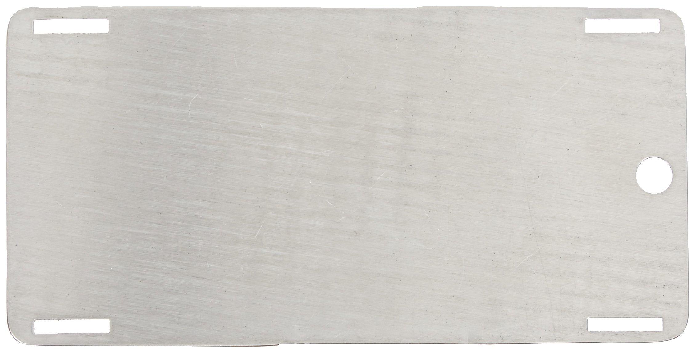 Brady  89227 5'' Width x 2 1/2'' Height, Stainless Steel (B-748), Blank Stainless Steel (HEET) Tags (10 Tags)