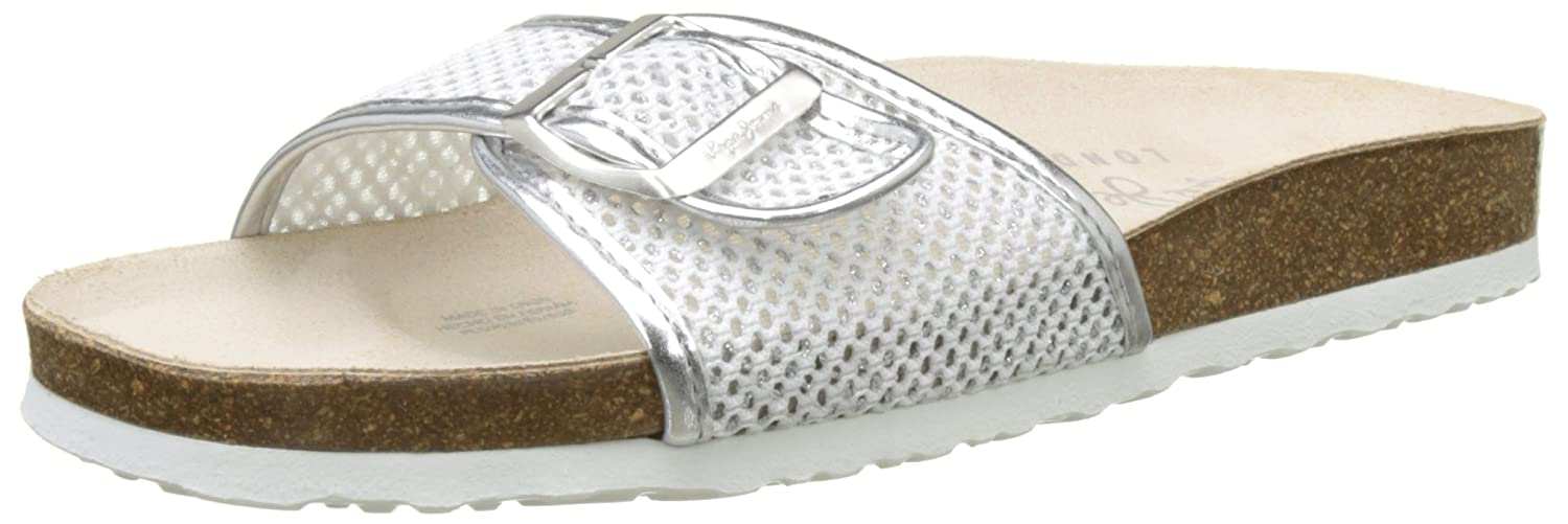 London Oban Mesh, Mules Femme, Blanc (White), 41 EUPepe Jeans London