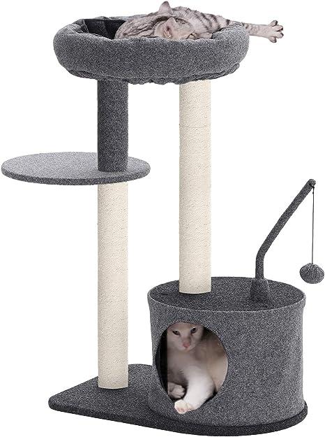 Amazon.com: FEANDREA Árbol para gatos con postes rascadores ...