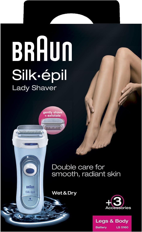 Braun Silk-épil Lady Shaver 5160 - Afeitadora eléctrica femenina ...