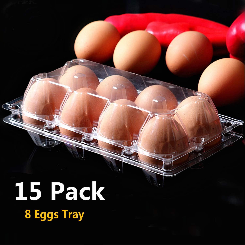 Clear Quail Egg Cartons 100 count flat top 24 egg