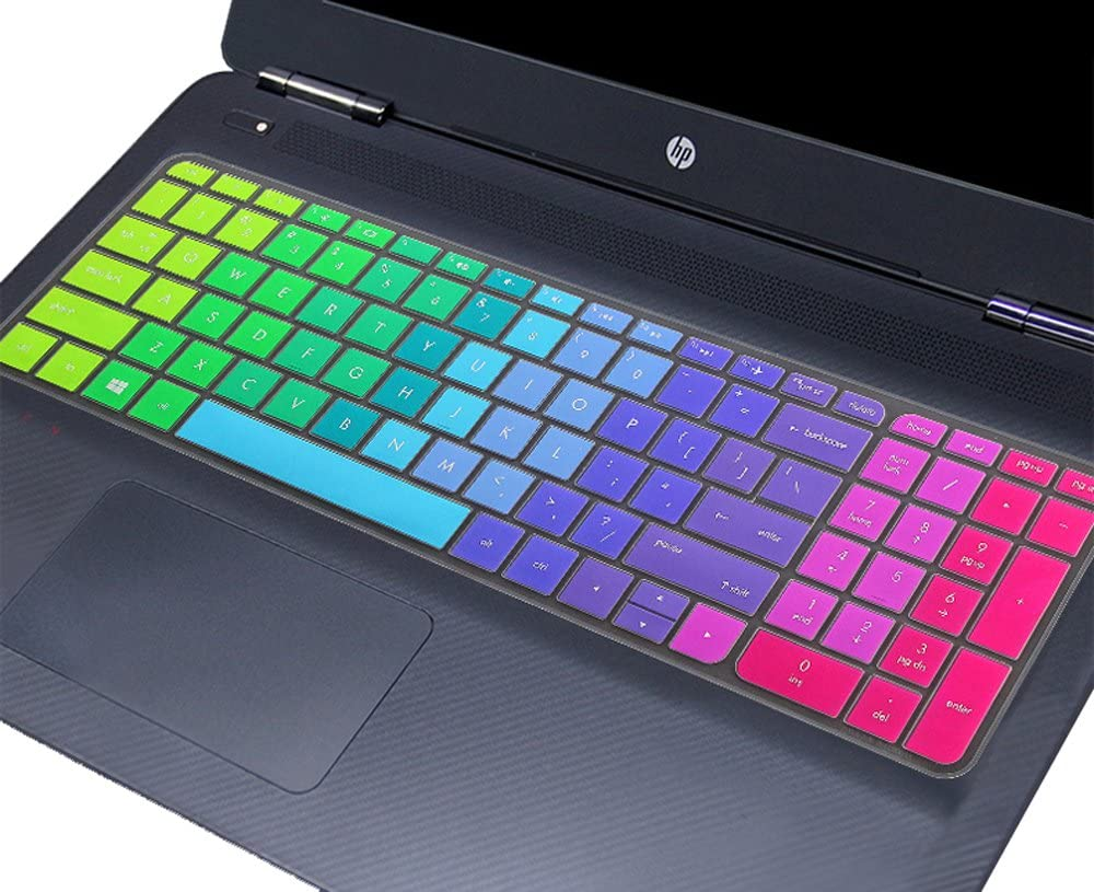Colorful HP Laptop Keyboard Cover for HP Pavilion 17, HP OMEN 17, Envy m7-n m7-u 17t-n 17-s Series, m7-n101dx n011dx n109dx m7-u009dx 17t-n100 17-s010nr 17-s030nr(Rainbow)