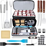 AISITIN BBQ Grill Accessories with Insulated Cooler Bag, Grill Utensils Set BBQ Grilling Accessories BBQ Tools Set, Stainless