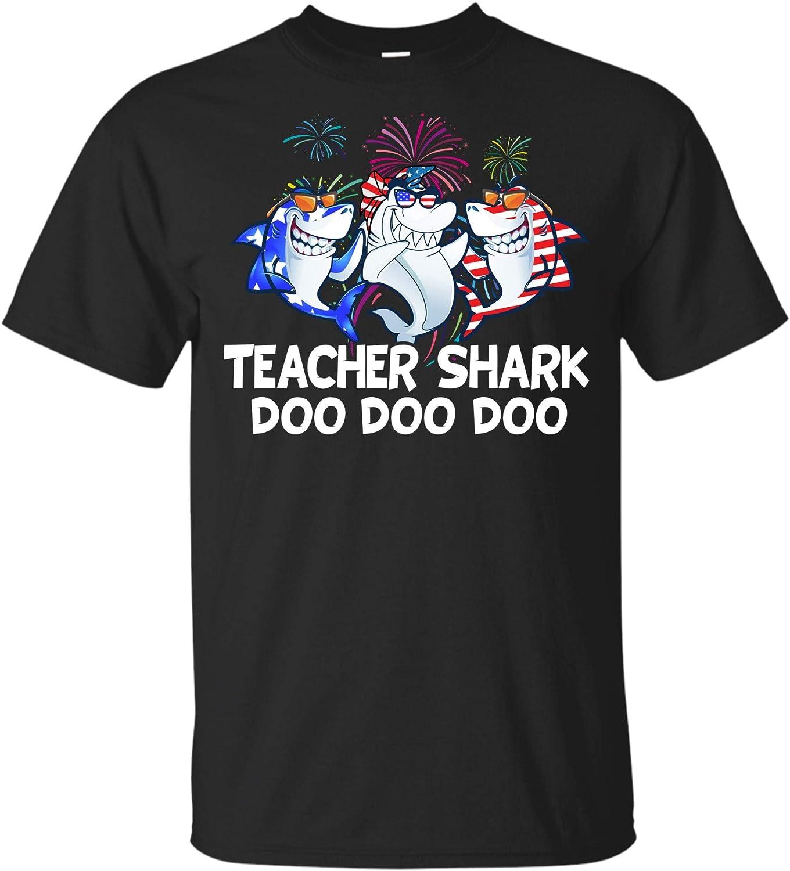 Teacher Shark Doo Doo Doo 04th of July Independence Day