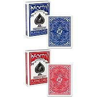 2 mazzi Carte Phoenix colore Blu/Rosso