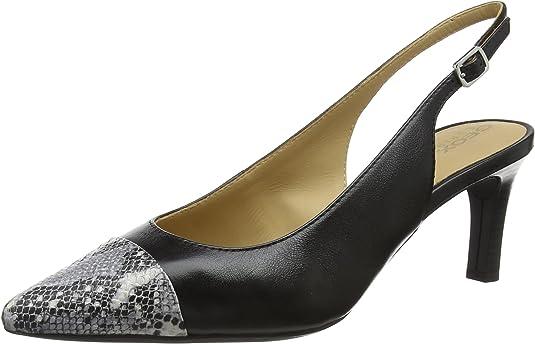 TALLA 36 EU. Geox D Bibbiana E, Zapatos de tacón con Punta Abierta para Mujer