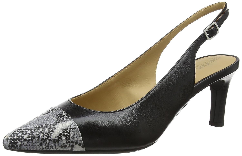 Geox D Bibbiana E, Zapatos de tacón con Punta Abierta para Mujer
