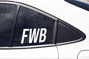 PotteLove FWB Friend with Benefits, Funny Cute Kink Kinky Erotic Poly Swinger BDSM, Vinyl Sticker Decal Cup Mug Bumper Laptop Car Window Art Gift, Art Decor
