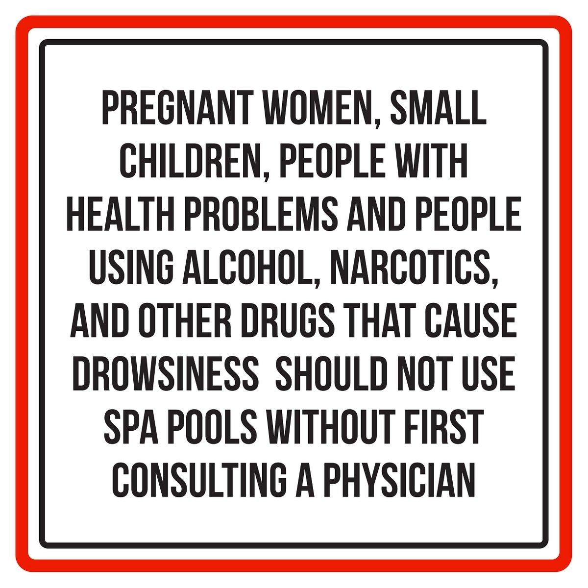 Señal cuadrada de advertencia para mujeres embarazadas ...
