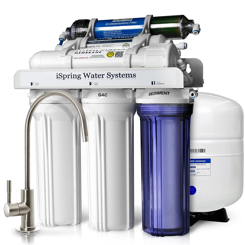 iSpring RCC7D 75 GPD Reverse Osmosis Water Filter System w Zero TDS