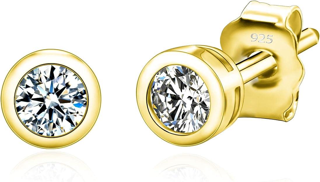 Silver Plated over Brass  11mm x 14mm Non Pierced Earrings EA-235-OR  2 Pcs CZ Bezel Setting Drop Earrings Clip on Earrings