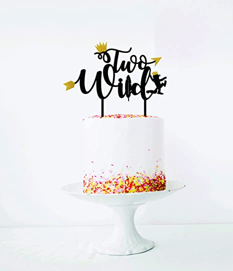 happy birthday 2nd birthday kids birthday Two Wild banner party ideas second birthday Gold glitter banner smash cake photo prop,