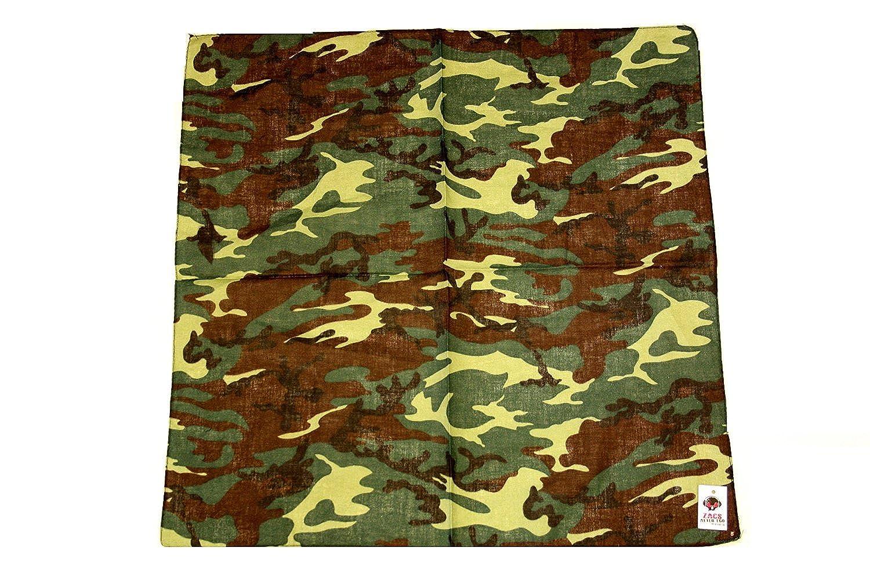 Neckerchief 100/% Cotton Zacs Alter Ego/® Army Camouflage Bandana