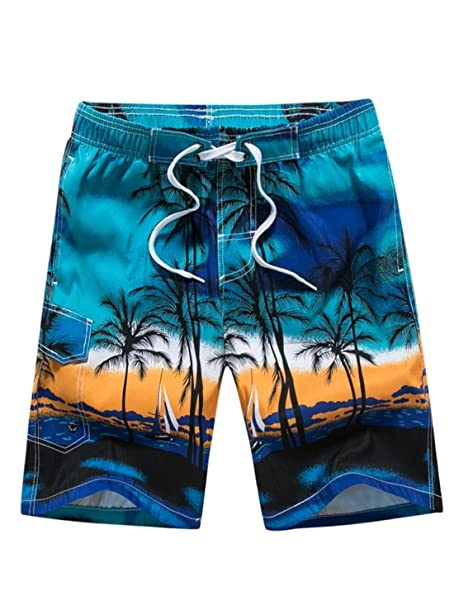 891b066eac Aivtalk Men Boys Sports Fast Dry Drawstring closure Board Shorts Swim Trunk  Swimwear Blue M
