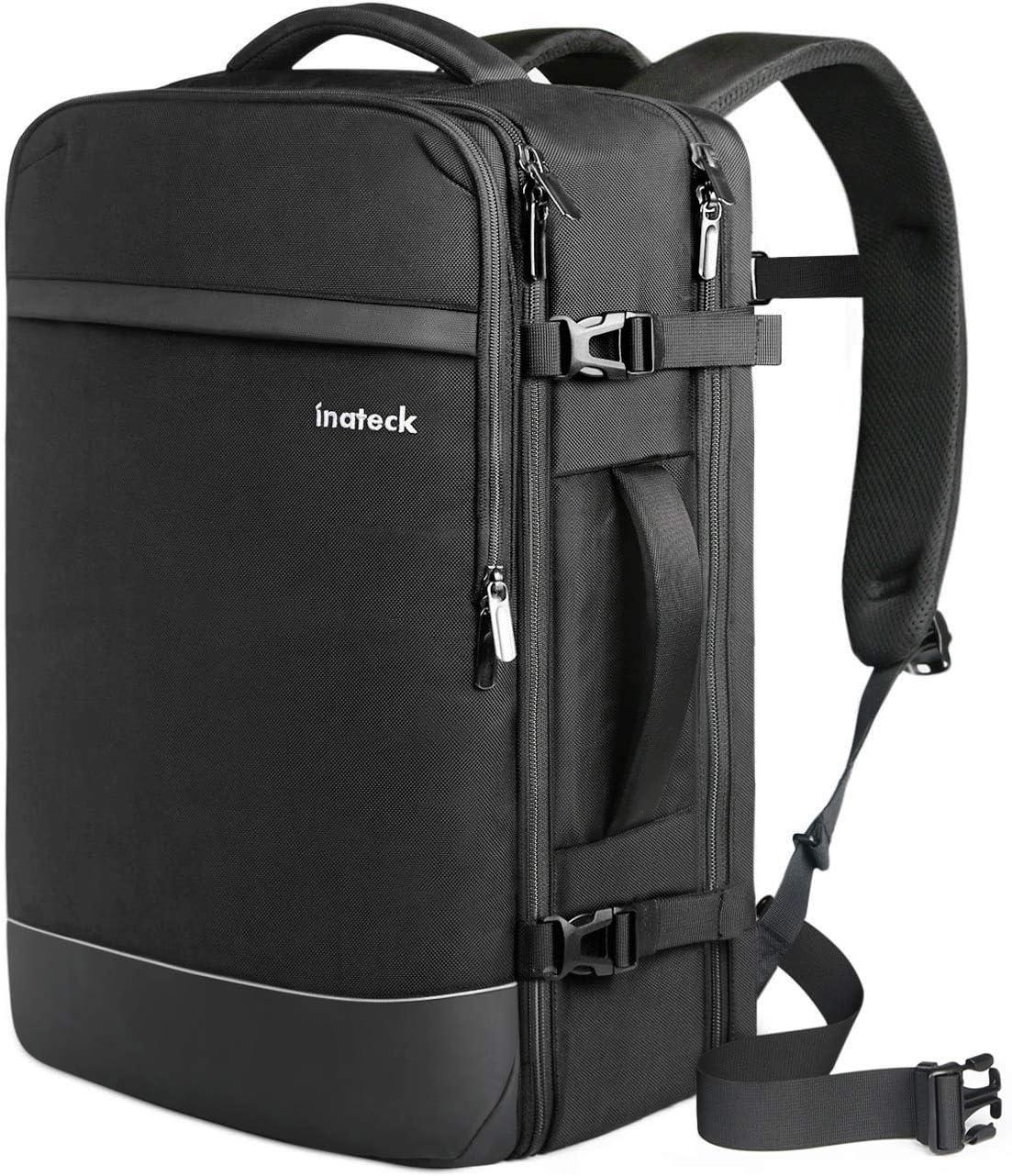 Inateck - Mochila de Viaje (40 L, antirrobo, para portátiles de 15,6/17/17,3 Pulgadas, Travel Carry On Backpack, Mochila de Cabina Equipaje de Cabina