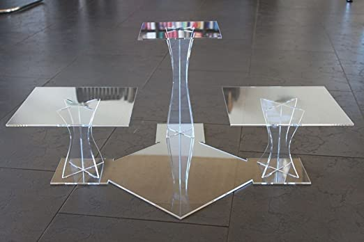 rund Kristall Hochzeit Tortenst/änder Design Etagere 5 Etagen Acryl