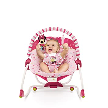 Amazon.com : Disney Minnie Mouse Bows & Butterflies Baby To Big Kid Rocking Seat : Baby